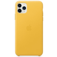 Apple Leder Case iPhone 11 Pro Max sonnengelb