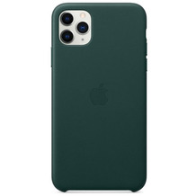 Apple Leder Case iPhone 11 Pro Max waldgrün