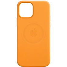 Apple Leder Case iPhone 12 mini mit MagSafe (california poppy)