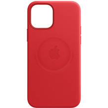 Apple Leder Case iPhone 12 mini mit MagSafe (rot)