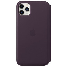 Apple Leder Folio iPhone 11 Pro Max aubergine