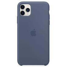 Apple Silikon Case iPhone 11 Pro Max alska blau