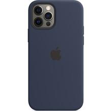 Apple Silikon Case iPhone 12/12 Pro mit MagSafe (dunkelmarine)