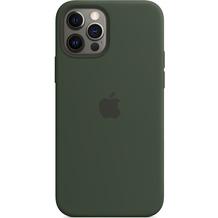 Apple Silikon Case iPhone 12/12 Pro mit MagSafe (zyperngrün)