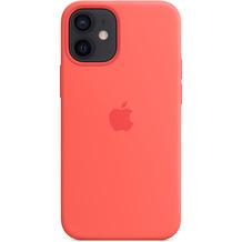 Apple Silikon Case iPhone 12 mini mit MagSafe (zitruspink)