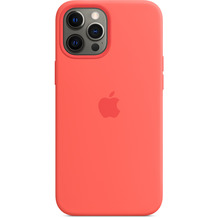 Apple Silikon Case iPhone 12 Pro Max mit MagSafe (zitruspink)