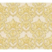 Architects Paper barocke Mustertapete Luxury Classics Vliestapete beige gelb metallic 343701
