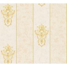 Architects Paper barocke Mustertapete Luxury Classics Vliestapete beige gelb metallic 343711 10,05 m x 0,53 m