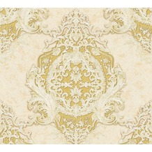 Architects Paper barocke Mustertapete Luxury Classics Vliestapete beige gelb metallic 343721 10,05 m x 0,53 m