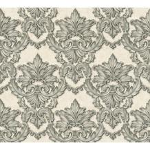 Architects Paper barocke Mustertapete Luxury Classics Vliestapete beige grau metallic 343704 10,05 m x 0,53 m