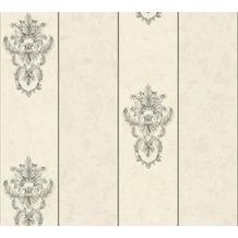 Architects Paper barocke Mustertapete Luxury Classics Vliestapete beige grau metallic 343714 10,05 m x 0,53 m