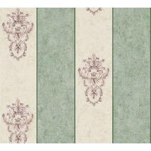 Architects Paper barocke Mustertapete Luxury Classics Vliestapete beige grün metallic 343715 10,05 m x 0,53 m