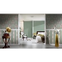 Architects Paper barocke Mustertapete Luxury Classics Vliestapete beige grün metallic 10,05 m x 0,53 m