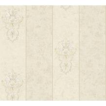 Architects Paper barocke Mustertapete Luxury Classics Vliestapete creme grau metallic 343716 10,05 m x 0,53 m