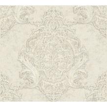 Architects Paper barocke Mustertapete Luxury Classics Vliestapete creme grau metallic 343726 10,05 m x 0,53 m