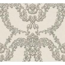 Architects Paper barocke Mustertapete Luxury Classics Vliestapete creme grau metallic 347774 10,05 m x 0,53 m
