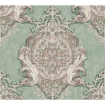 Architects Paper barocke Mustertapete Luxury Classics Vliestapete grün metallic lila 343725 10,05 m x 0,53 m