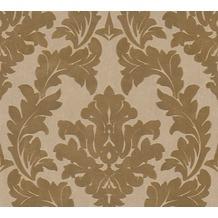 Architects Paper beflockte Vliestapete Castello Tapete gelb metallic 335802
