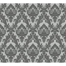Architects Paper beflockte Vliestapete Castello Tapete grau 335823 10,05 m x 0,52 m