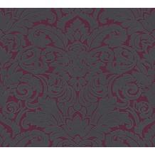 Architects Paper beflockte Vliestapete Castello Tapete grau schwarz 335835 10,05 m x 0,52 m