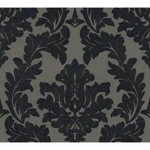Architects Paper beflockte Vliestapete Castello Tapete grau schwarz metallic 335805 10,05 m x 0,52 m