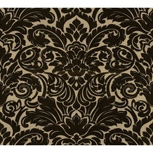 Architects Paper beflockte Vliestapete Castello Tapete schwarz 335834 10,05 m x 0,52 m