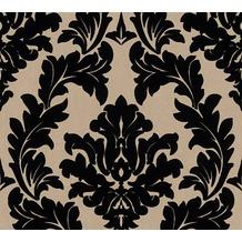 Architects Paper beflockte Vliestapete Castello Tapete schwarz metallic 335804 10,05 m x 0,52 m