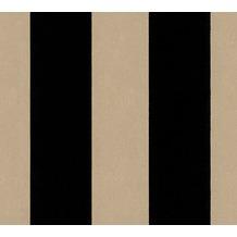 Architects Paper beflockte Vliestapete Castello Tapete schwarz metallic 335814 10,05 m x 0,52 m