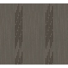 Architects Paper besticktes Designpanel AP Wall Fashion Textiltapete braun metallic 306075 3,20 m x 0,53 m