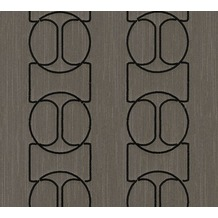 Architects Paper besticktes Designpanel AP Wall Fashion Textiltapete braun metallic 306135 3,20 m x 0,53 m
