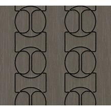Architects Paper besticktes Designpanel AP Wall Fashion Textiltapete braun metallic 306135 3,20 m x 0,53 m