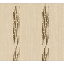 Architects Paper besticktes Designpanel AP Wall Fashion Textiltapete creme metallic 306071 3,20 m x 0,53 m