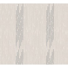 Architects Paper besticktes Designpanel AP Wall Fashion Textiltapete creme metallic 306072 3,20 m x 0,53 m