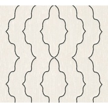 Architects Paper besticktes Designpanel AP Wall Fashion Textiltapete creme metallic 306153 3,20 m x 0,53 m