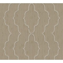 Architects Paper besticktes Designpanel AP Wall Fashion Textiltapete creme metallic 306154 3,20 m x 0,53 m
