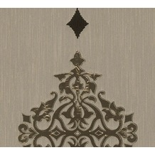 Architects Paper besticktes Designpanel AP Wall Fashion Textiltapete creme metallic 306171 3,20 m x 0,53 m