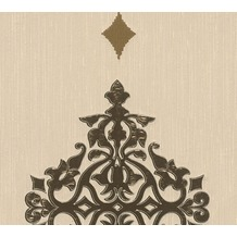 Architects Paper besticktes Designpanel AP Wall Fashion Textiltapete creme metallic 306172 3,20 m x 0,53 m