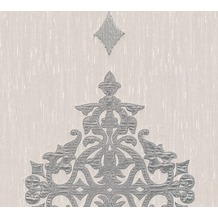 Architects Paper besticktes Designpanel AP Wall Fashion Textiltapete creme metallic 306173 3,20 m x 0,53 m
