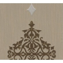 Architects Paper besticktes Designpanel AP Wall Fashion Textiltapete creme metallic 306174 3,20 m x 0,53 m