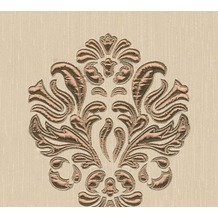 Architects Paper besticktes Designpanel AP Wall Fashion Textiltapete creme metallic 306341 3,20 m x 0,53 m
