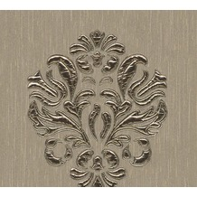Architects Paper besticktes Designpanel AP Wall Fashion Textiltapete creme metallic 306344 3,20 m x 0,53 m