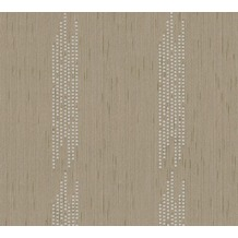 Architects Paper besticktes Designpanel AP Wall Fashion Textiltapete creme metallic 306074 3,20 m x 0,53 m