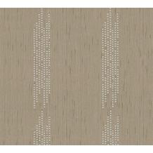 Architects Paper besticktes Designpanel AP Wall Fashion Textiltapete creme metallic 306074 3,20 m x 0,53 m