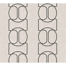 Architects Paper besticktes Designpanel AP Wall Fashion Textiltapete creme metallic 306132 3,20 m x 0,53 m