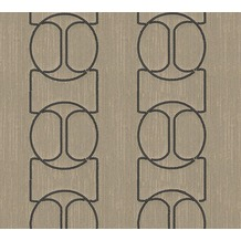 Architects Paper besticktes Designpanel AP Wall Fashion Textiltapete creme metallic 306134 3,20 m x 0,53 m