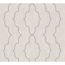 Architects Paper besticktes Designpanel AP Wall Fashion Textiltapete creme metallic 306152 3,20 m x 0,53 m