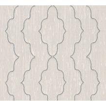 Architects Paper besticktes Designpanel AP Wall Fashion Textiltapete creme metallic 306152 3,20 m x 0,53 m