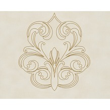 Architects Paper besticktes Panel Nobile, creme, metallic 969833 3,20 m x 0,70 m