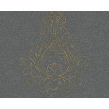 Architects Paper besticktes Panel Nobile, grün, metallic 969824 3,20 m x 0,70 m