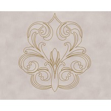 Architects Paper besticktes Panel Nobile, metallic, lila 969832 3,20 m x 0,70 m